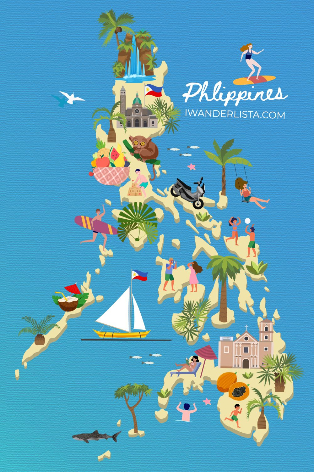 Philippines illustrated map