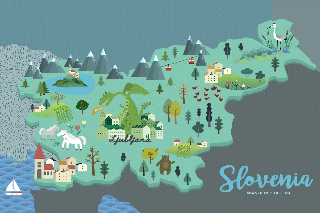Slovenia Illustrated Map
