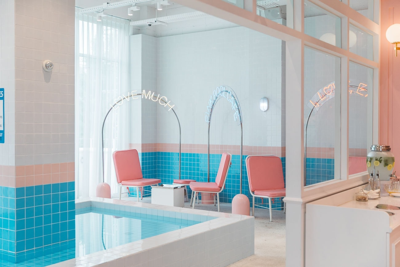 Stylenanda Pink Pool Cafe in Seoul