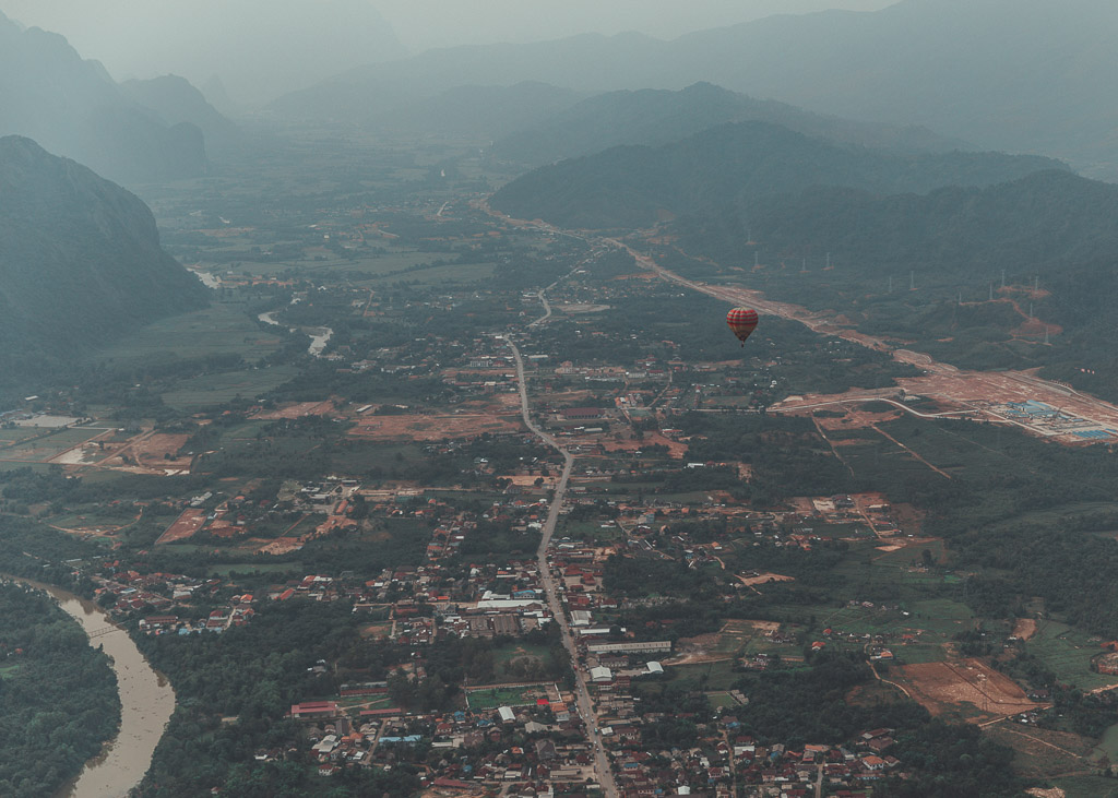 Hot Air Ballooning Vang Vieng