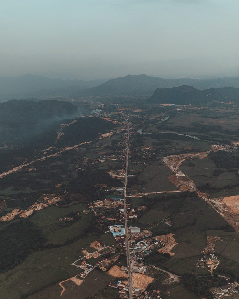 Hot Air Ballooning Vang Vieng